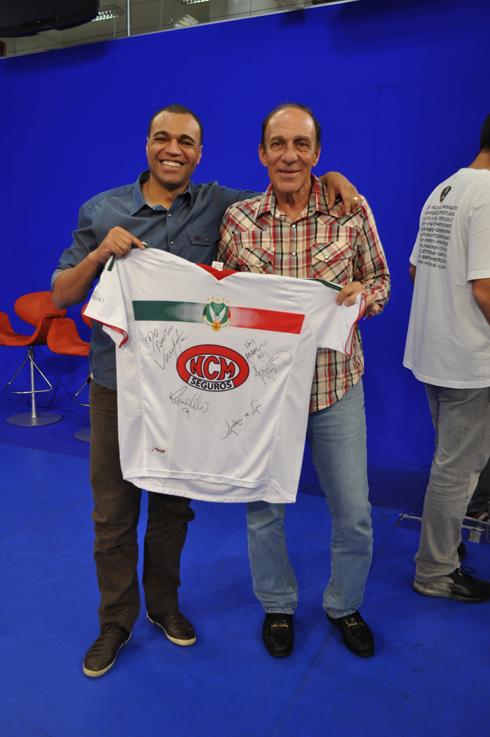 Alfredo Mostarda e Denilson com a camisa do União Rio Branco.