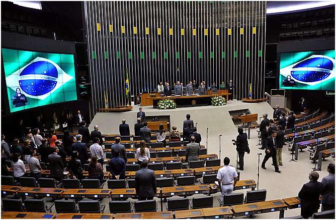 Plenário Ulysses Guimarães durante a premiação. Foto: Zeca Ribeiro / Câmara dos Deputados