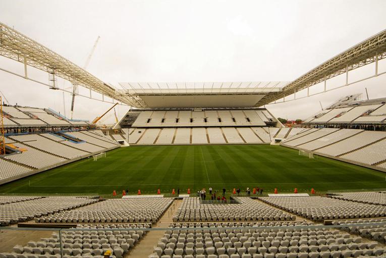 Inauguração provisória da Arena Corinthians pela Odebrecht. Foto: Danilo Borges/Portal da Copa/ME
