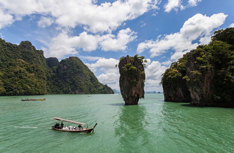 Ko Tapu (Tapu Island), na Tailândia. Foto: Diego Delso