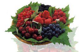Frozen iogurte com frutas vermelhas, levinho
