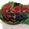 Frozen iogurte com frutas vermelhas