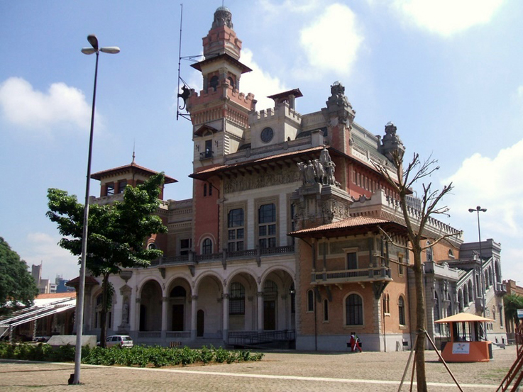 Palácio das Indústrias, no centro da cidade de São Paulo, Parque Dom Pedro II.