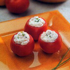 Tomates recheados com peito de peru, fácil