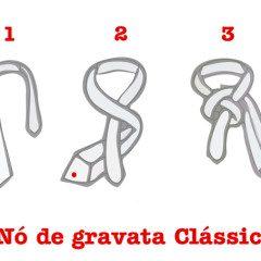 Hoje vamos aprender o nó de gravata clássico