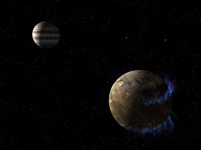 Imagens da lua de Júpiter feitas pelo Hubble