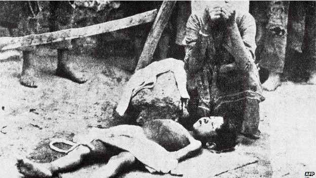 Polêmica sobre se ocorreu de fato um 'genocídio' se centra na questão da premeditação ─ o grau com que a matança foi orquestrada. Foto: AFP | BBC Brasil