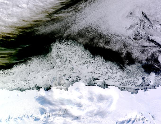 Mar congelado na Costa da Princesa Astrid, Leste da Antártida