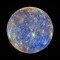 Primeira imagem obtida da órbita de Mercúrio, em 2011