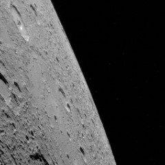 Uma visão do horizonte do planeta Mercúrio