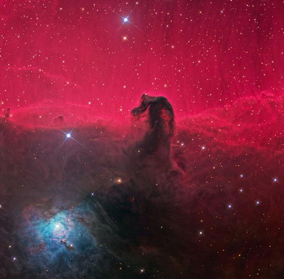 Nebulosa Cabeça de Cavalo. Foto: Ken Crawford / 21 Janeiro de 2011, 15:13:03