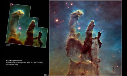 """Os """"Pilares da Criação"""" revisitados pela NASA"""