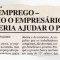 Alô Tatuapé há 22 anos: Desemprego – como o empresário poderia ajudar o pais