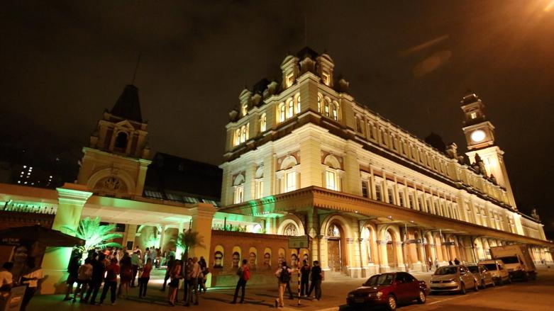 Museu da Língua Portuguesa antes do incêndio que destruiu parte do prédio histórico e as instalações na Estação da Luz, centro de São Paulo. Foto: GESP / Fotos Públicas