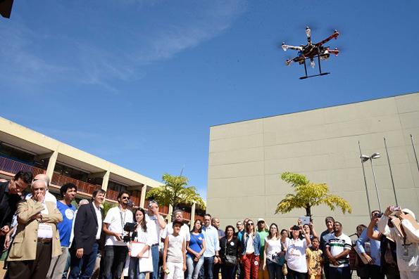 Prefeitura usará drone para mapear áreas com possíveis criadouros do mosquito Aedes aegypti. Foto: Edson Hatakeyama
