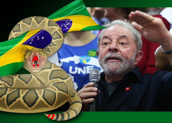 Lula, fala em coletiva após depoimentos na PF. Foto: Paulo Pinto/Fotos Públicas. Ilustração/sobrefoto: aloart
