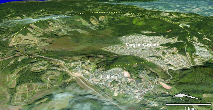 Análise microscópica confirmou que a estrutura circular existente na área de Colônia, próxima à represa Billings, foi produzida pelo choque de um asteroide ou cometa. Imagem: arquivo de Victor Velázquez Fernandez