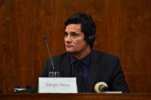 O juiz Federal Sérgio Moro participa do simpósio Lava Jato e Mãos Limpas, realizado no auditório do  Procuradoria Regional da República da 3ª Região em São Paulo. Foto: Rovena Rosa/Agência Brasil