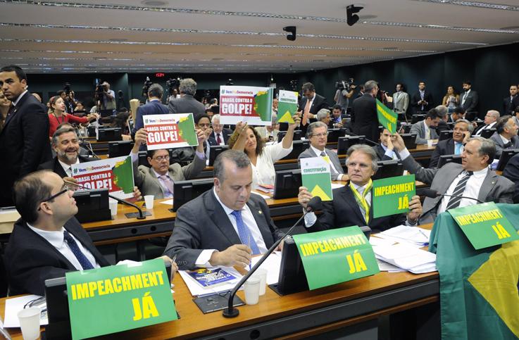 Reunião Extraordinária para discussão do parecer do Relator do processo de impeachment de Dilma Roussef. Foto: Luis Macedo / Câmara dos Deputados