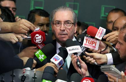 Brasília-DF | 17/04/2016 - Presidente da Câmara, deputado Eduardo Cunha (PMDB-RJ), concede entrevista. Foto: Antonio Augusto/ Câmara dos Deputados