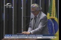 Sessão para leitura do relatório da CEIS no Senado, ao vivo