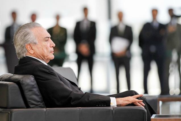 """Presidente Interino Michel Temer durante cerimônia de apresentação de Credenciais dos Embaixadores Residentes em Brasília, comenta sobre aprovação da nova metal fiscal: """"Foi uma bela vitória"""". Foto: Beto Barata/PR"""