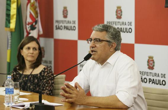 Entrevista coletiva do Secretario Municipal de Saúde, Alexandre Padilha, sobre Balanço da Gripe H1N1. Foto: Cesar Ogata / SECOM