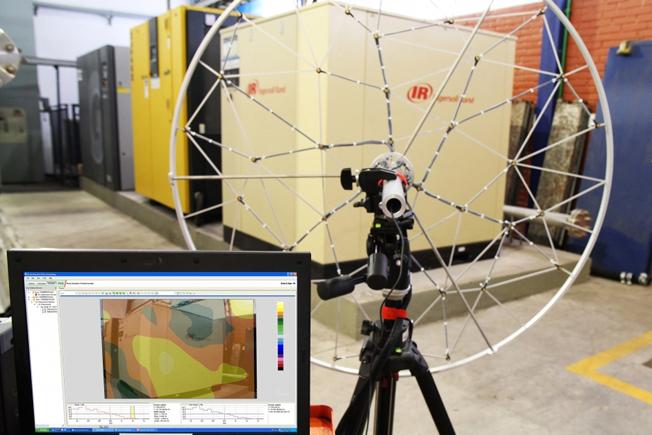 Sistema de holografia acústica. Foto: IPT / divulgação
