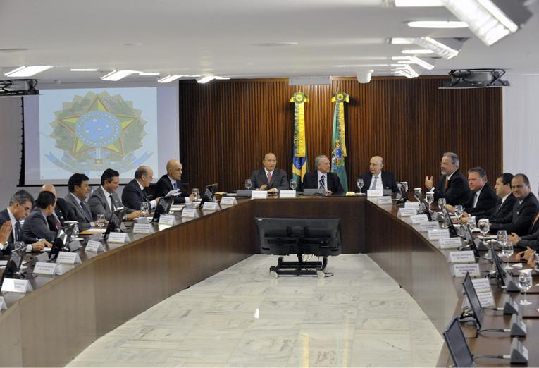 13/05/2016 - Brasília - DF, Brasil - Temer inicia primeira reunião ministerial de seu governo. Foto: Isaac Amorim/MJ