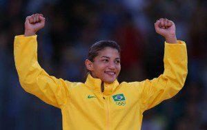 Ouro em Londres 2012, Sarah Menezes está bem colocada no ranking mundial do judô (Foto:Getty Images/Alexander Hassenstein)