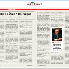 """Alô Tatuapé há 23 anos: """"Conselho de Ética x Corrupção"""""""
