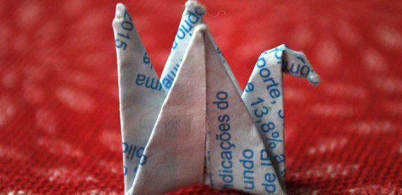 Como prêmio um origami!