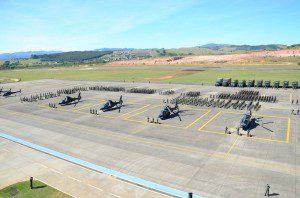 Comando de Aviação do Exército executa apronto operacional dos meios que serão utilizados na Rio 2016. Foto: Exército Brasileiro