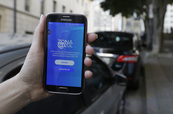 Zona Azul Digital. Foto: Cesar Ogata / SECOM