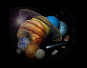 Montagem dos planetas do Sistema Solar. Créditos: NASA / JPL