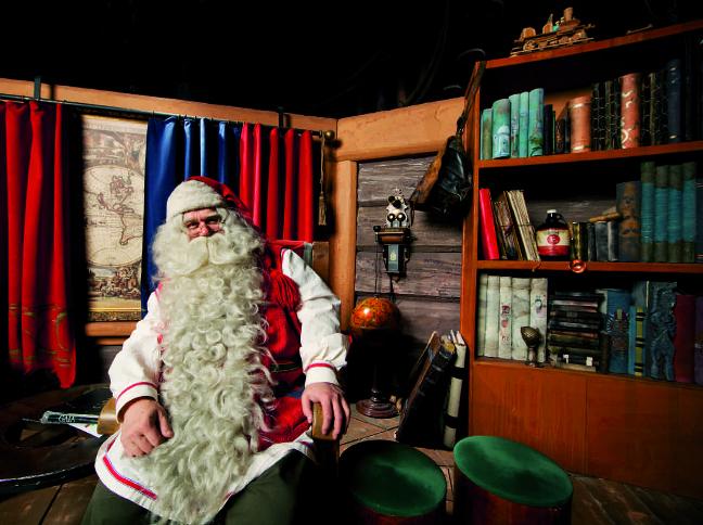 Papai Noel em sua casa na Lapônia. Foto: Divulgação