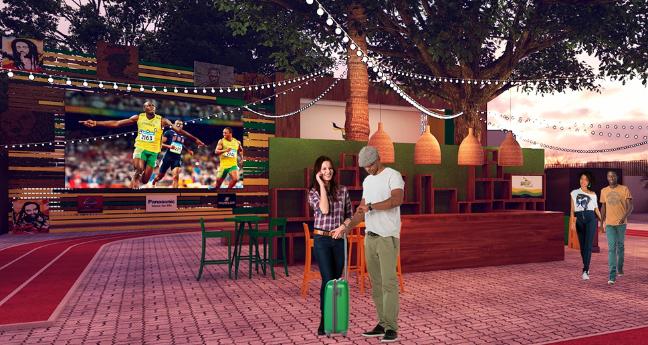 Projeção da Casa Jamaica. Imagem: Divulgação