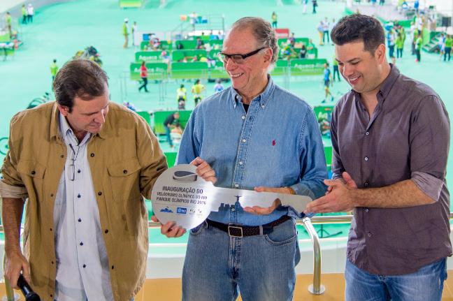 O Velódromo do Rio é oficialmente entregue aos Jogos Rio 2016. Foto: Rio 2016/Paulo Mumia
