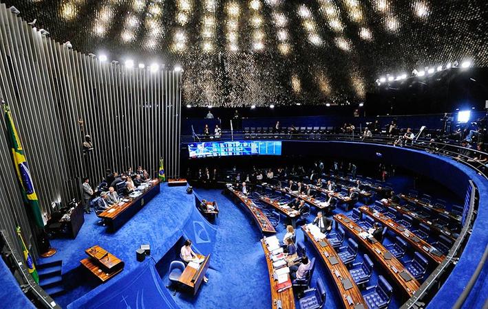 Plenário do Senado em sessão que decide a continuidade ou o impeachment definitivo do mandato da presidente afastada Dilma Roussef. Foto: Jonas Pereira/Agência Senado