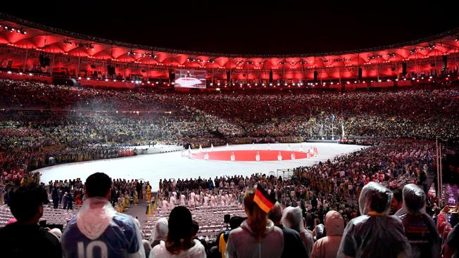 Bandeira do Japão marca transição do Rio 2016 para Tóquio 2020 (Foto: Getty Images/David Ramos)