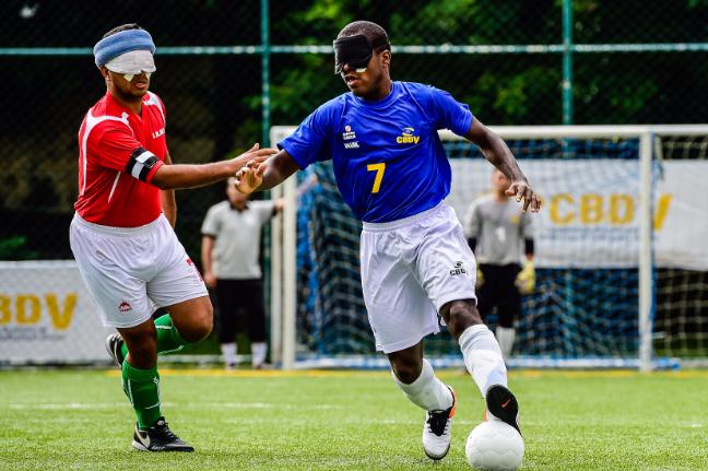 Jefinho é um dos grandes astros do futebol de 5 mundial (Foto: CBDV-Inovafoto/Bruno Miani)