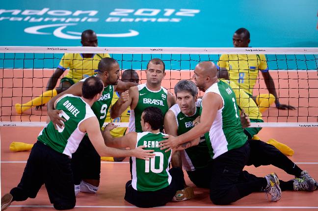 Equipe de voleibol sentado do Brasil vai lutar por medalha em casa (Foto: Getty Images/Dennis Grombkowski)