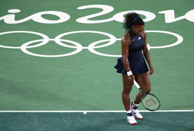 Serena tristonha após eliminação no Rio 2016. Foto: Getty Images/Clive Brunskill