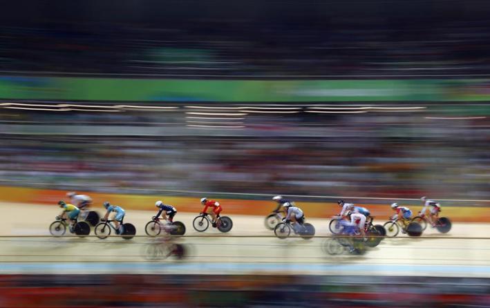Pista de ciclismo do Velódromo teve a quebra de 19 recordes Olímpicos durante os Jogos Rio 2016. Foto: Getty Images/Bryn Lennon