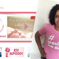Campeã mundial Fofão apoia campanha #gravidezsemalcool