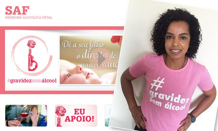 A tri-campeã olímpica Fofão, também apóia a campanha.Foto: Divulgação / SAF