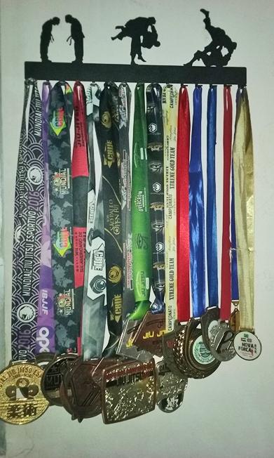 Coleção de medalhas. Foto: arquivo pessoal