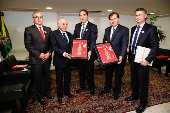 Presidente Michel Temer recebe John Anthony Santa María Otazúa, Presidente Mundial da Coca-Cola FEMSA. (Brasília - DF, 26/09/2016). Foto: Carolina Antunes/PR