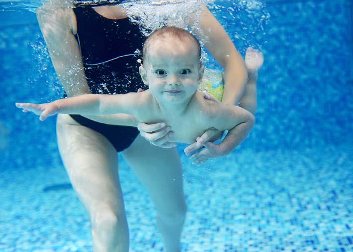 Natação em bebês: mitos e verdades. Foto: divulgação / SPSP