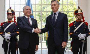 Em visita oficial à Argentina, o presidente brasileiro encontrou-se com Maurício Macri da Argentina em Olivos, na manhã de hoje (3). Foto: Beto Barata/PR